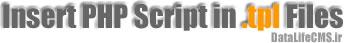 استفاده از کد های PHP در قالب