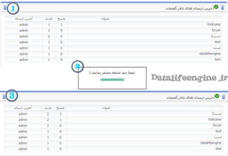 نمایش آخرین تاپیک های ارسال شده + بروز رسانی آجاکس